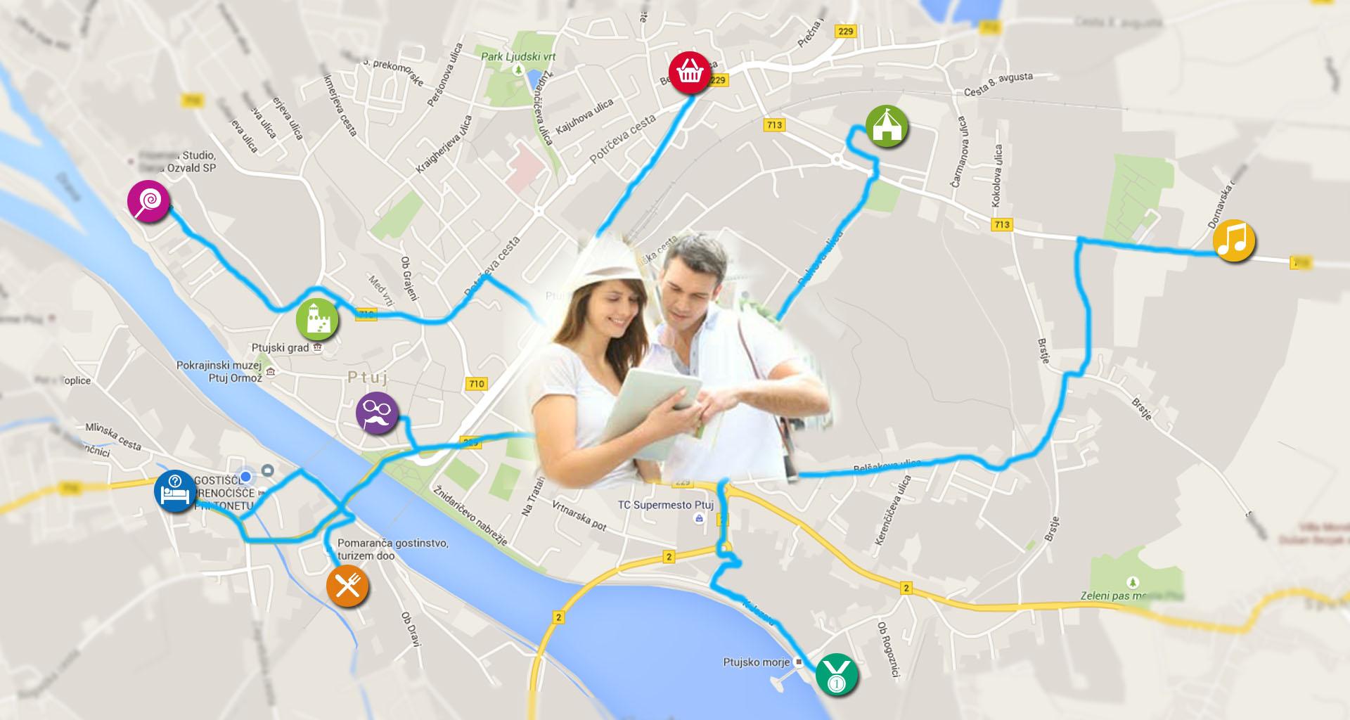 Prikaz dogodkov glede na vašo lokacijo